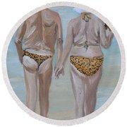 Leopard Skin Round Beach Towel