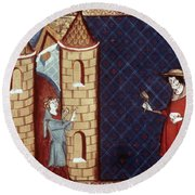 Leper House, C1220-1244 Round Beach Towel