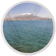 Lerapetra From Across The Bay Round Beach Towel