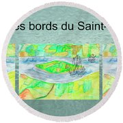 C'est Sur Les Bords Du Saint-laurent Mug Shot Round Beach Towel