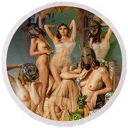 Les Demoiselles 4 Round Beach Towel
