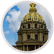 Les Invalides Round Beach Towel