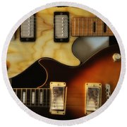 Les Paul - Come Together Round Beach Towel