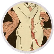 Les Remords Round Beach Towel