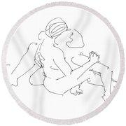 Lesbian Art 2 Round Beach Towel