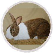 Les's Rabbit Round Beach Towel