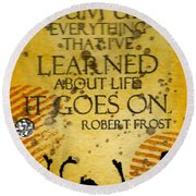 Lessons Learned Round Beach Towel