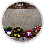 Lest We Forget War Memorial Martin Place Round Beach Towel