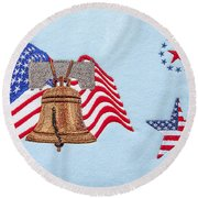 Let Freedom Ring Round Beach Towel