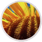 Let The Light Shine In Round Beach Towel