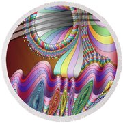 Let The Mystery Be... Round Beach Towel