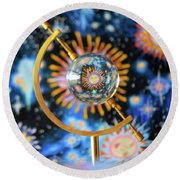 Let The Sun Shine In Round Beach Towel