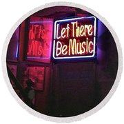 Let There Be Music Round Beach Towel