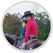 Let Your Babies Grow Up To Be Cowboys Round Beach Towel