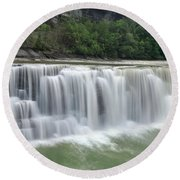 Letchworth Falls Sp Lower Falls Round Beach Towel