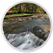 Letchworth Falls Sp Wolfe Creek Round Beach Towel