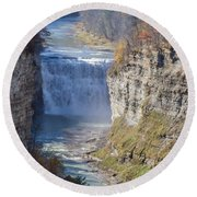 Letchworth Middle Falls Round Beach Towel