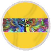 Let's Color This World By Kaye Menner Round Beach Towel