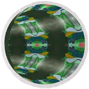 Let's Get Around It Abstract  Round Beach Towel