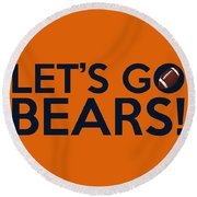 Let's Go Bears Round Beach Towel