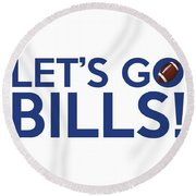 Let's Go Bills Round Beach Towel