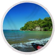 Let's Go Round Beach Towel