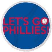 Let's Go Phillies Round Beach Towel