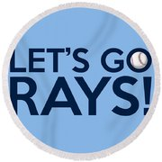 Let's Go Rays Round Beach Towel