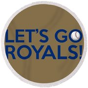 Let's Go Royals Round Beach Towel