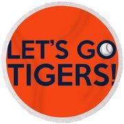 Let's Go Tigers Round Beach Towel