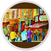 Lets Meet For Lunch Round Beach Towel