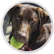 Lets Play Ball Round Beach Towel