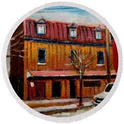 Levine Brothers Plumbers Montreal Round Beach Towel