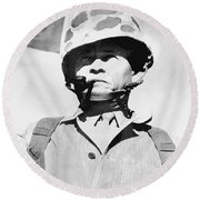 Lewis Chesty Puller Round Beach Towel
