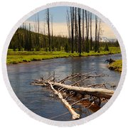 Lewis River Round Beach Towel