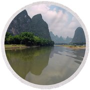 Li River At Xingping Round Beach Towel