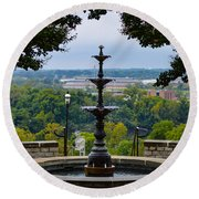 Libby Hill Park Round Beach Towel