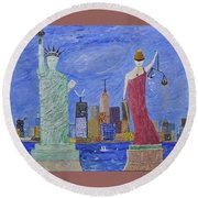 Liberty And Justice  Round Beach Towel