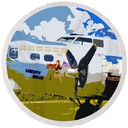 Liberty Belle Round Beach Towel