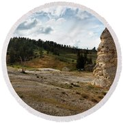 Liberty Cap - Yellowstone Round Beach Towel