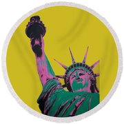 Liberty Round Beach Towel
