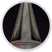 Liberty Memorial At Night Round Beach Towel