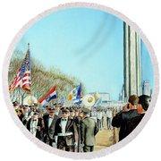 Liberty Memorial Kc Veterans Day 2001 Round Beach Towel