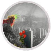 Liberty Remembers You Round Beach Towel
