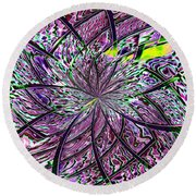 Library Abstract 2 Round Beach Towel