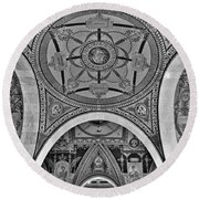 Library Of Congress Arches And Murals Round Beach Towel