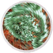 Lichen On Granite Round Beach Towel
