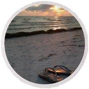 Lido Beach Sandals Round Beach Towel