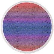 Lie Detector Abstract Design Round Beach Towel