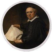 Lieven Willemsz Van Coppenol Born About 1599 Died 1671 Or Later Round Beach Towel